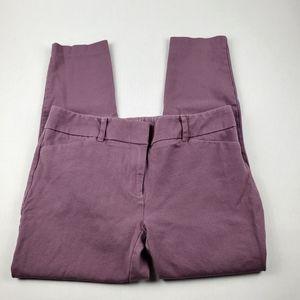 NY&CO Mauve Skinny Ankle Stretch Dress Pant 8